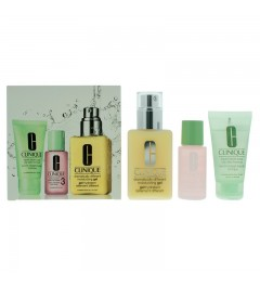 Clinique 3-Step Skin Care System Combination Oily Skin : Facial Soap - Clarifying Lotion 3 - Moisturizing Gel 125ml Gift set