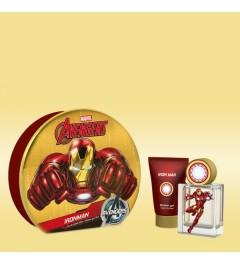 Marvel Iron Man : Eau de Toilette - Shower Gel 75ml - Metal Tin Gift set