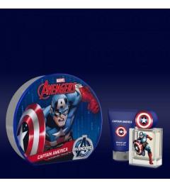 Marvel Captain America Eau de Toilette - Shower Gel 75ml - Metal Tin Gift set 50 ml